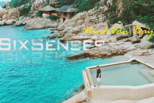 Bể bơi sát bờ biển là biểu tượng của sixsenses Ninh Vân Bay